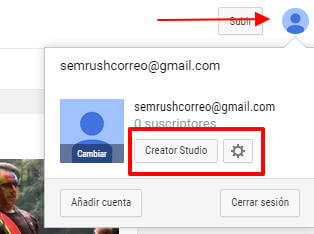Crear canal Youtube - Creator Studio
