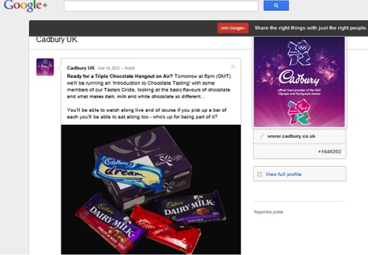 Cadbury Google Hangout