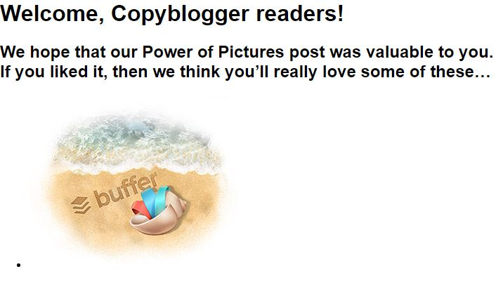 Groove HQ landing page for copyblogger readers