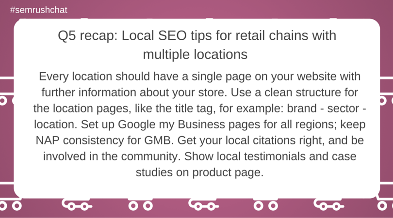 Local SEO tips for retail chains with multiple locations