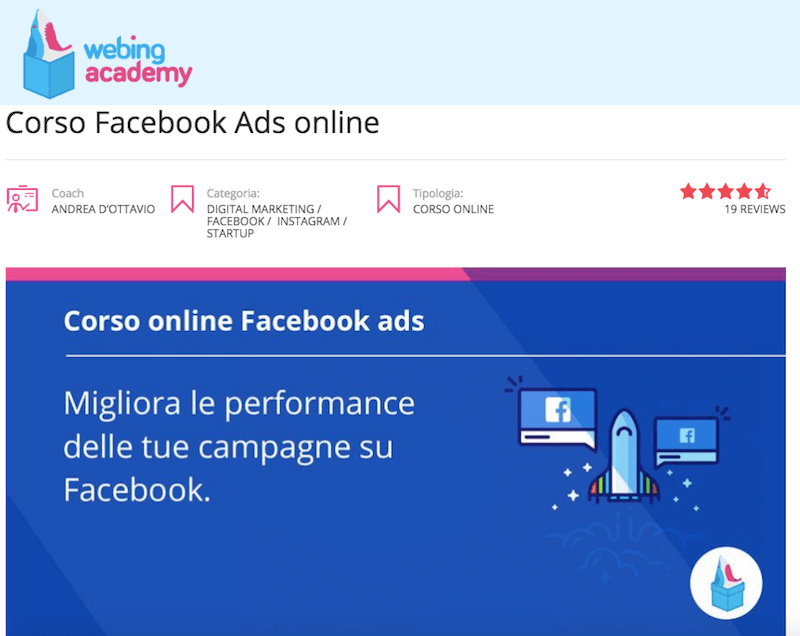 Webing Academy: corsi di alta formazione sul web marketing