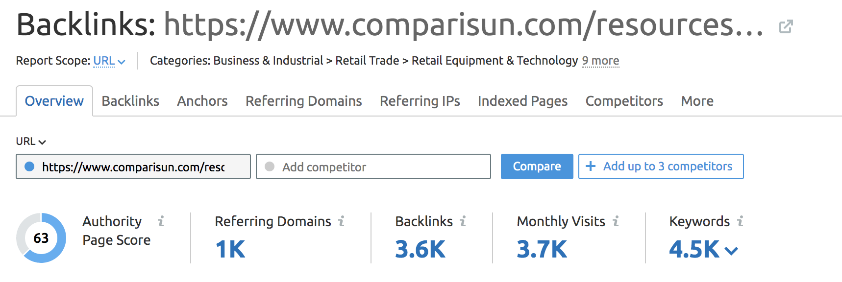 Comparisun backlinks