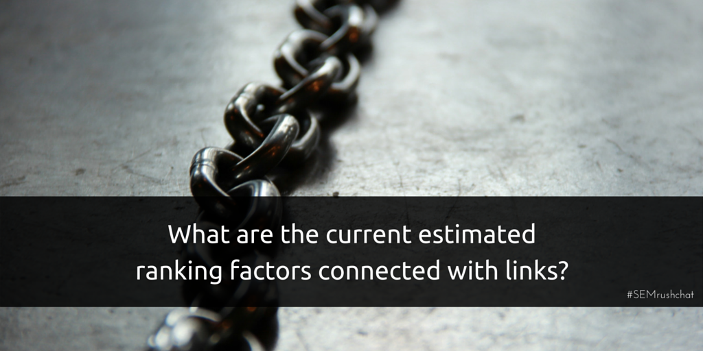 Ranking factors connected with links