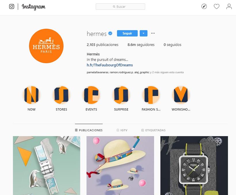 Likes en Instagram - Hermés