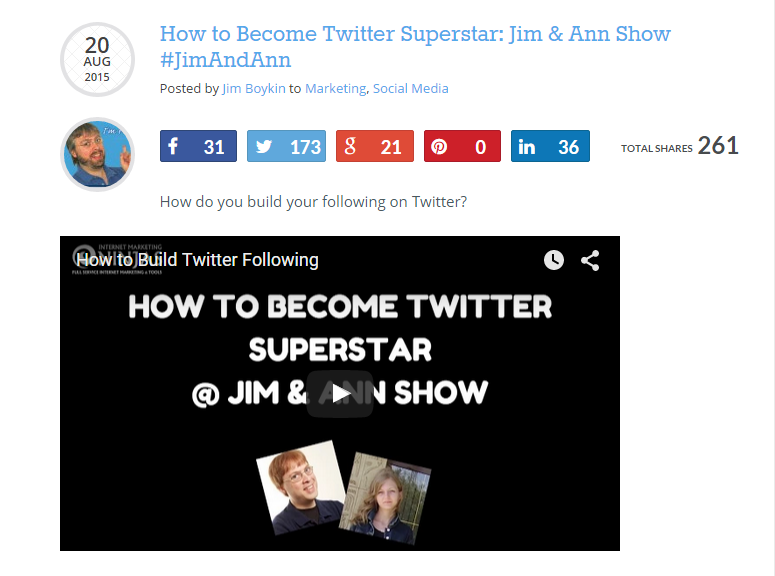 How to Become Twitter Superstar Jim Ann Show JimAndAnn