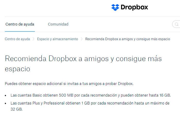 Estrategia Growth hacking Programa referidos Dropbox