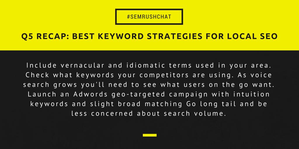 Best keyword strategies for local SEO