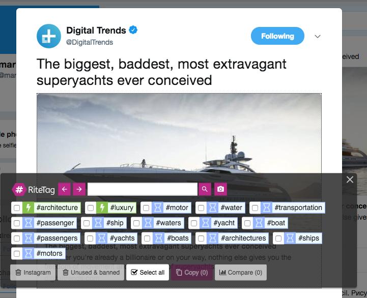 Extensiones Chrome - Ritetag