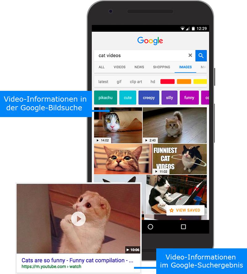 Anzeigebeispiele Video-Informationen