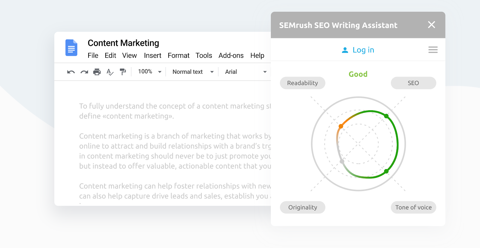 SEO Writing Assistant screenshot