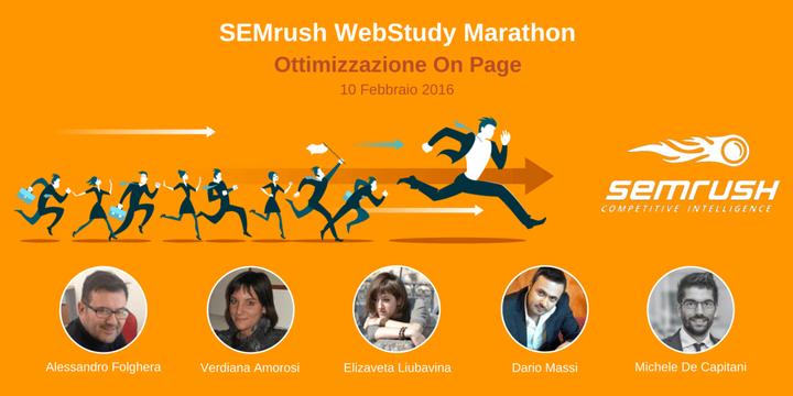 Il programma della SEMrush WebStudy Marathon