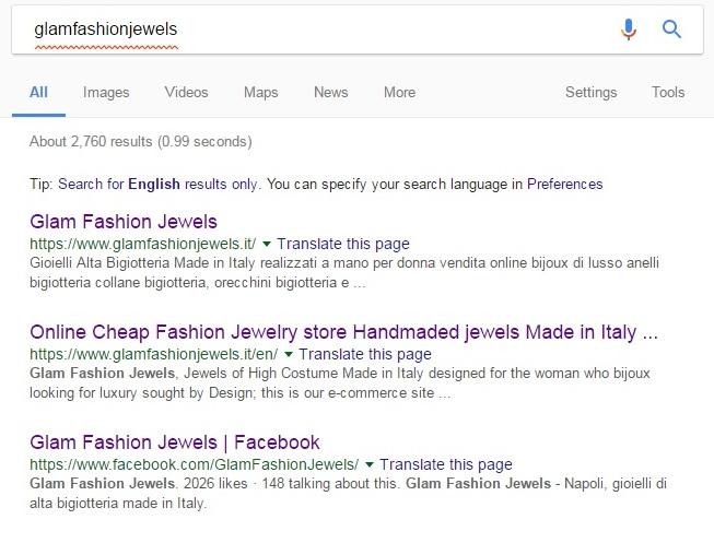 SEMrushchat Recap of glamfashionjewels.it