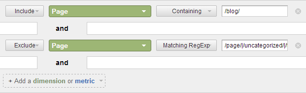 analytics-exclude-regex-filter