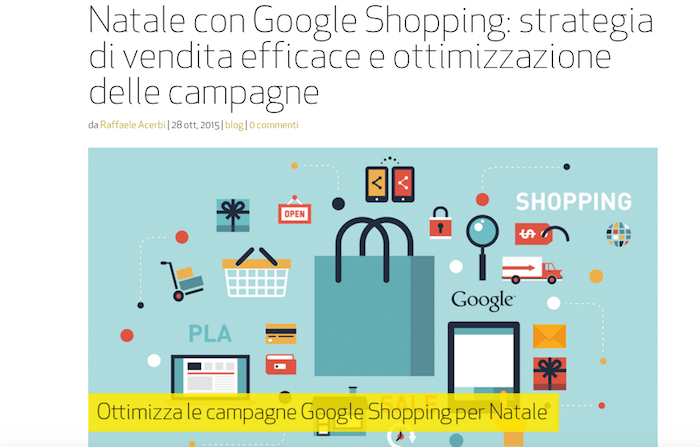 Sfruttare google Shopping per una strategia di Natale