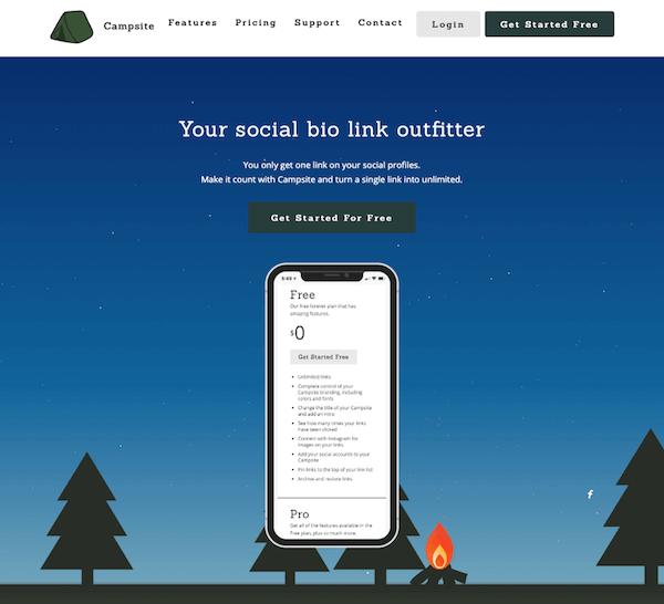 Campasite.bio: app per mettere più link nella biografia di Instagram