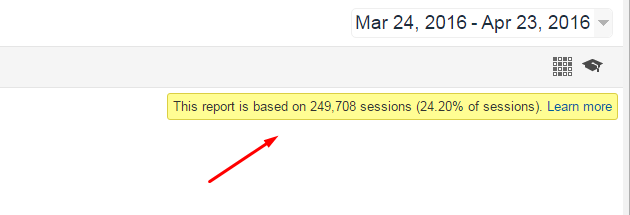 Google Analytics: Adjust Sessions Used to Calculate Reports