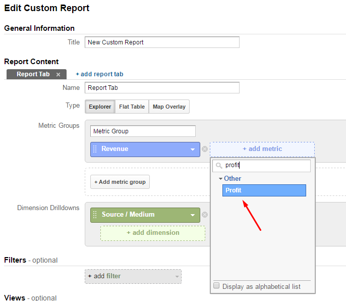Applying Your Calculated Metric in Google Analytics