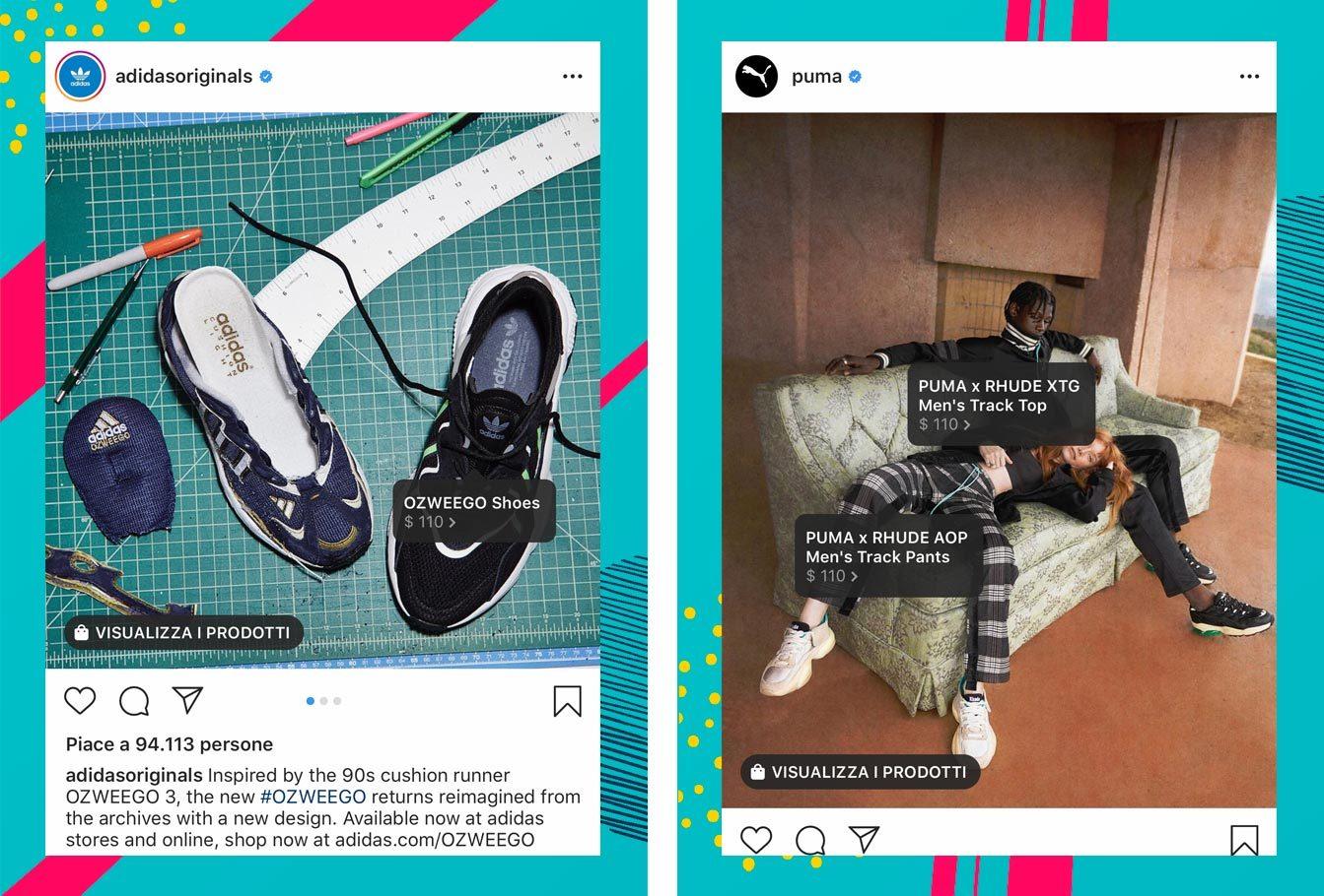 Esempi Instagram Shopping sport
