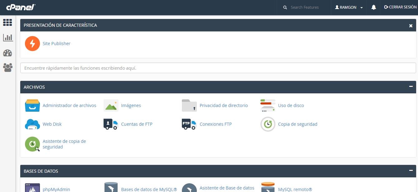cPanel en Wordpress