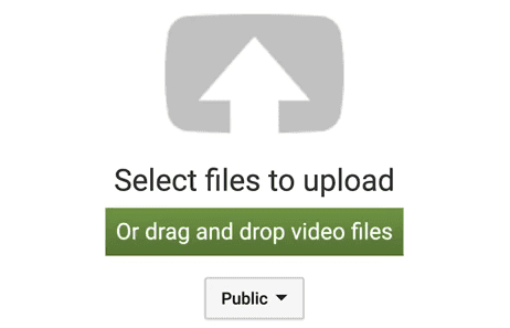 Select files to download option on YouTube