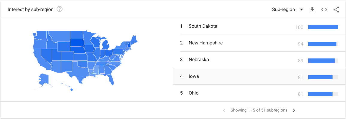 geographic settings google trends