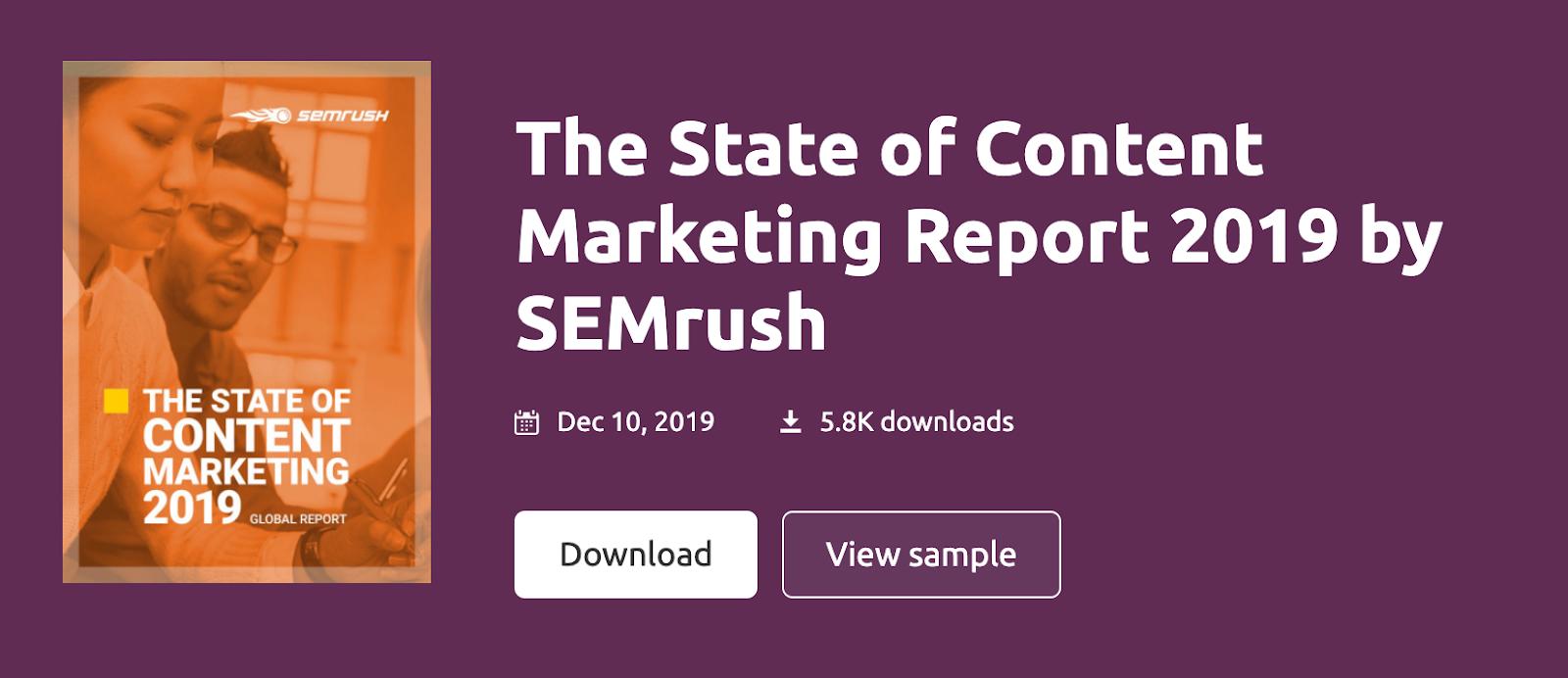 state of content marketing semrush