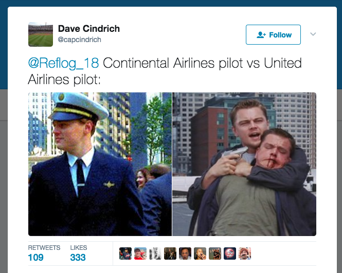 tweet about United Airlines scandal