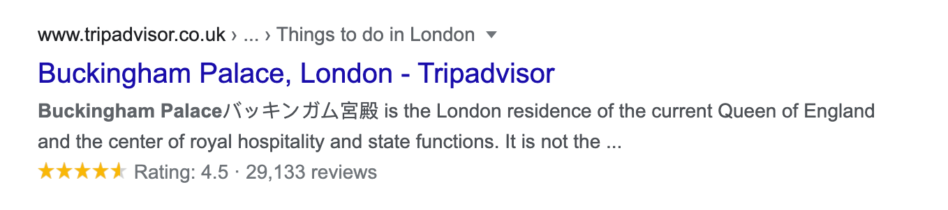 review snippet on serp