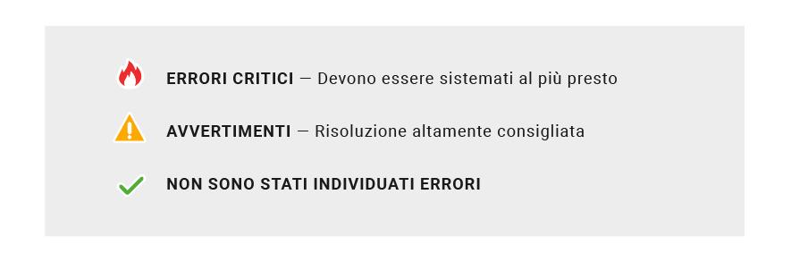 Rilevazione errori a seguito del passaggio all'HTTPS, report Site Audit