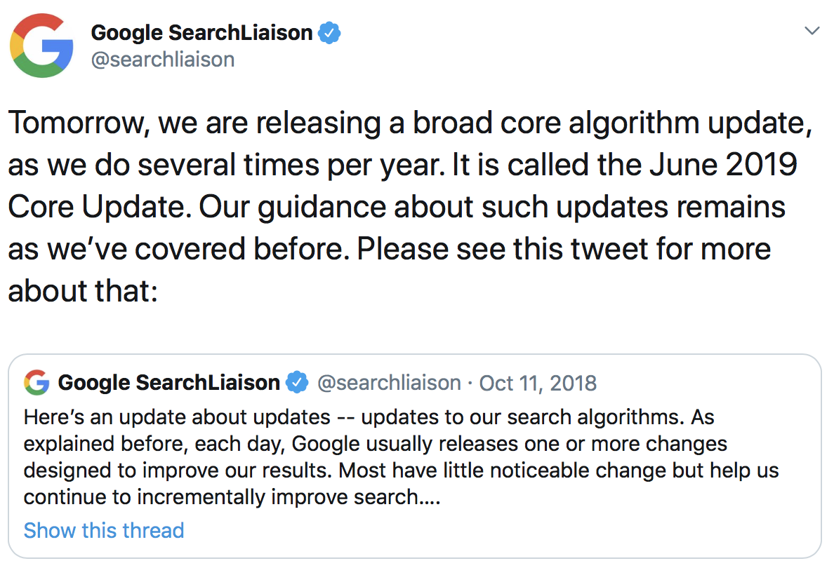 Google News Digest: June 2019 Core Update, New Mobile SERPS, Mobile-first Indexing and More.. Image 0
