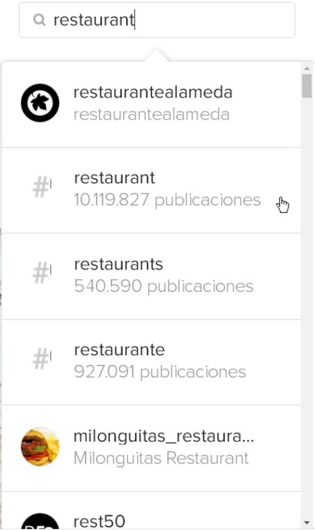 Redes Sociales para restaurantes -Hashtags en Instagram