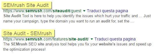 Ottimizzazione del tg Title con Site Audit