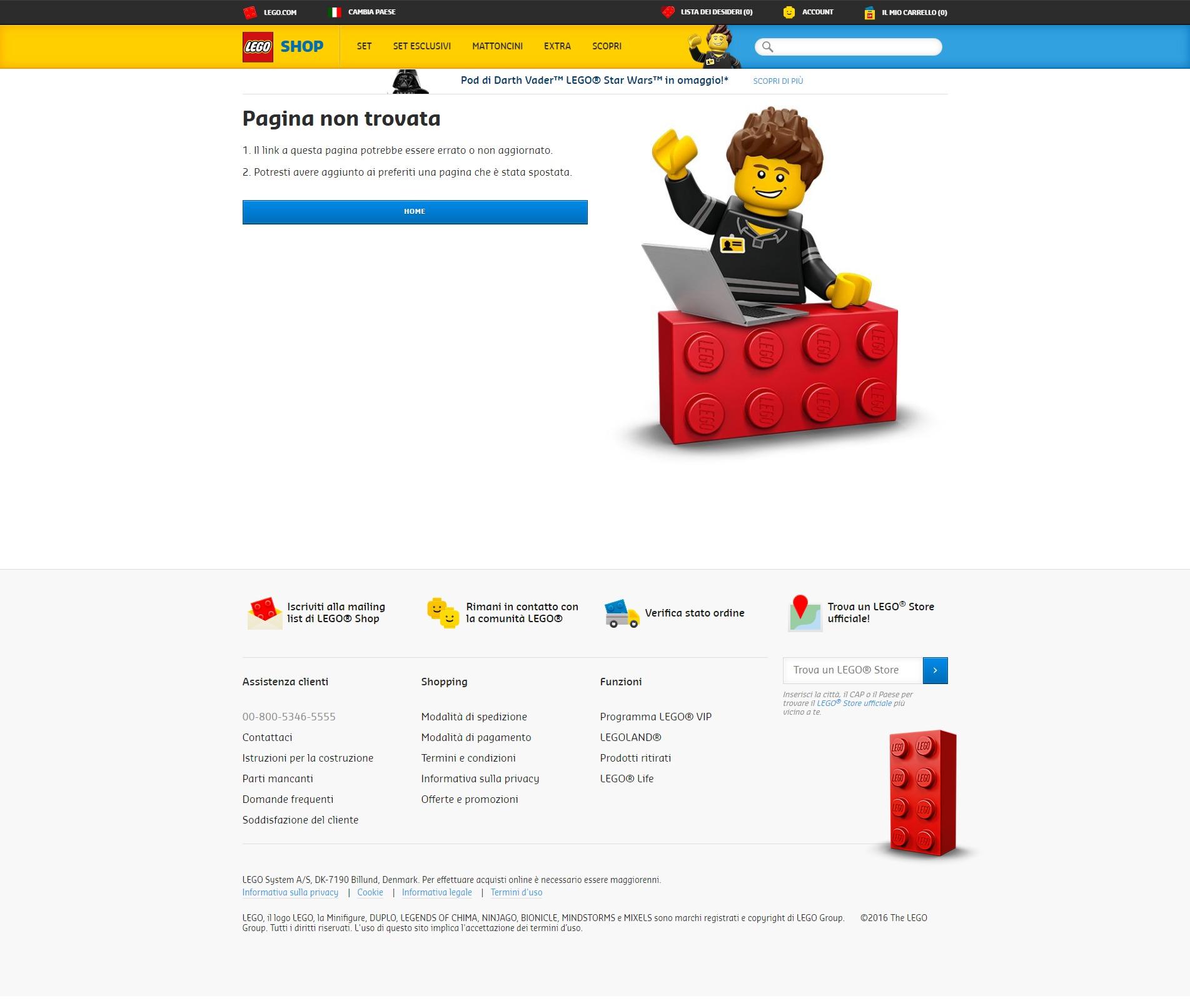 lego pagina errore 404