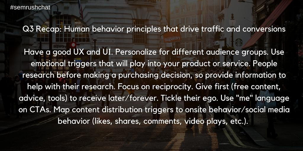 Human behavior principles that drive traffic and conversions