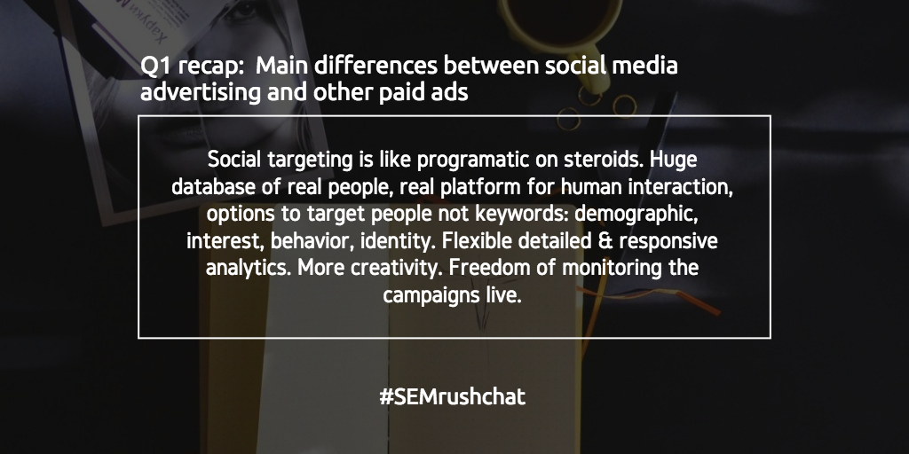 Main difference between social media ads and other paid ads