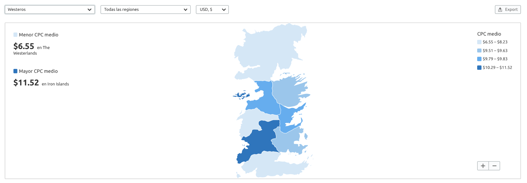 Newsjacking - Mapa siete reinos