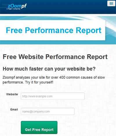 Zoompf: test de velocidad de carga web