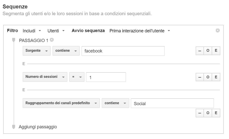 Social analytics: segmento coorte