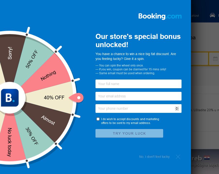 Interactive popup example