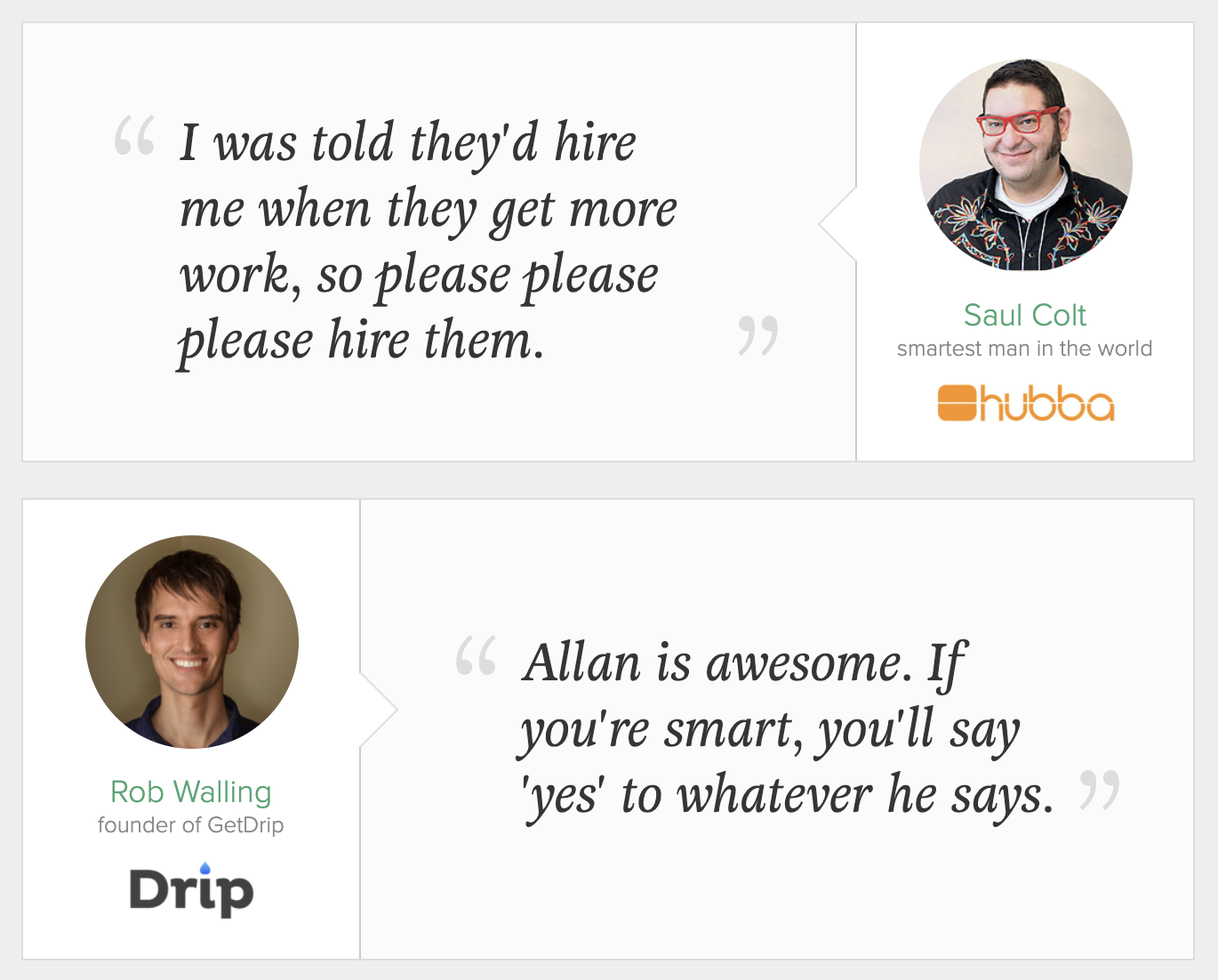 website content testimonials and social proof