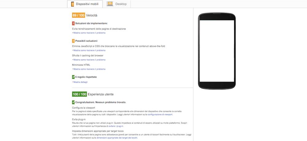 PageSpeed Insights: un ottimo tool per fare SEO check e audit del sito