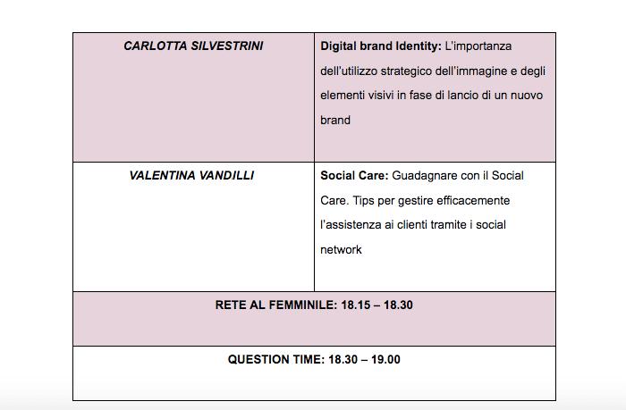 Digitale Rosa: il programma (parte 5)