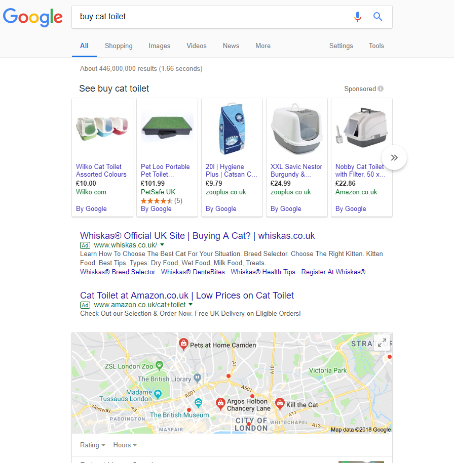 Search results for 'buy cat toilet' query