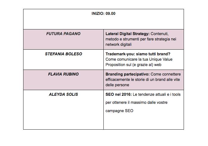 Digitale Rosa: il programma (parte 1)