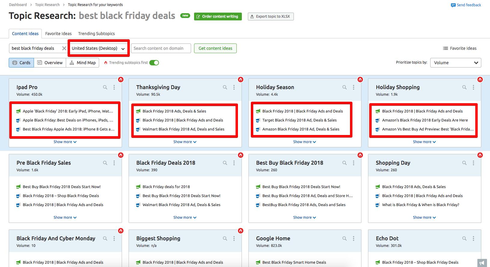 Find The Best Black Friday Deals Using Semrush