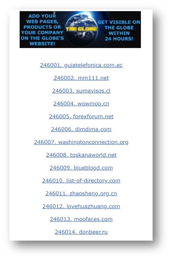 Linkverzeichnis - Beispiel