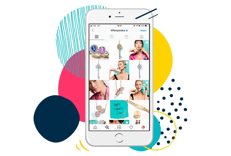 Esempio account Tiffany Instagram Shopping