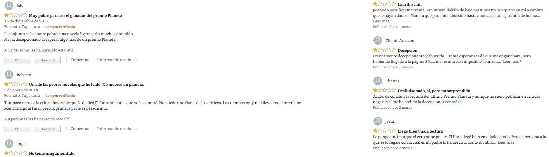UGC - Comentarios libro Amazon