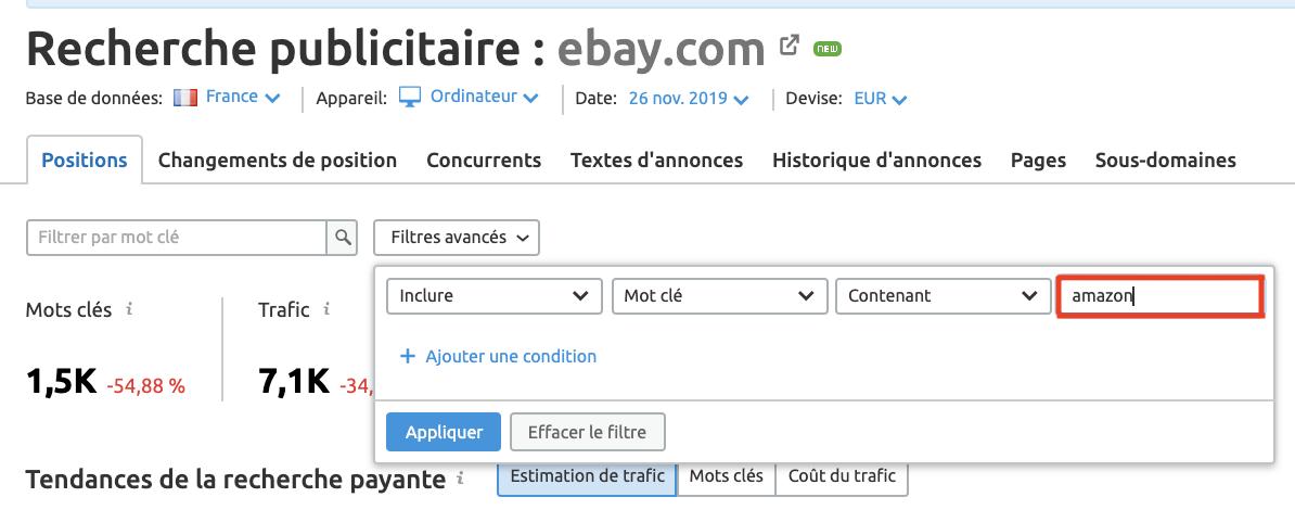 recherche publicitaire ebay.com