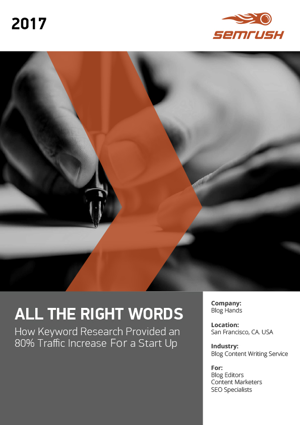 Keyword Research SEMrush Case Study